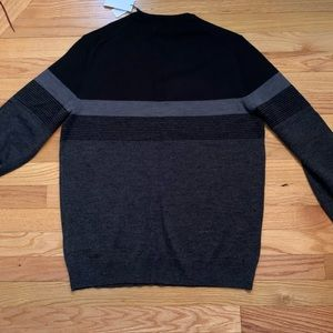 Calvin Klein Sweater - Medium - Black and Grey